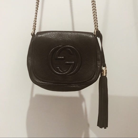 9a63cb603ed Gucci Handbags - GUCCI Soho Leather Chain Shoulder Bag